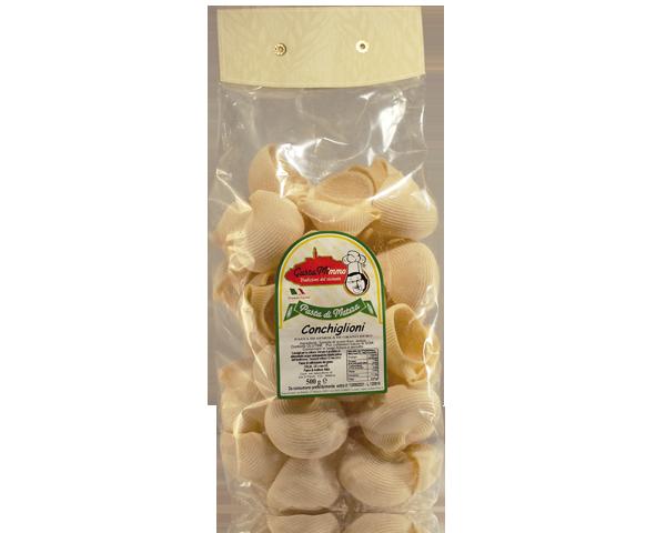 CONCHIGLIONI  Pasta fresca secca prodotta a Matera  confezione da 1/2 Kg • €1,98