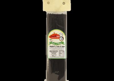 SPAGHETTI AL NERO DI SEPPIA Pasta fresca secca prodotta a Matera  confezione da 1/2 Kg • €1,98