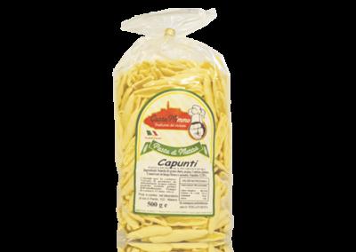 CAPUNTI  Pasta fresca secca prodotta a Matera  confezione da 1/2 Kg • €1,65