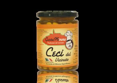CECI DEL VICINATO  Ceci, cipolle, pomodori, alloro, sale, prodotto locale  barattolo da 314 ml • €2,48