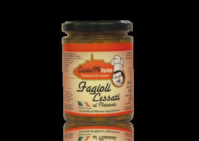 FAGIOLI LESSATI AL NATURALE  Fagioli, sale, prodotto locale  barattolo da 314 ml • €2,15