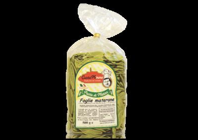 FOGLIE MATERANE  Pasta fresca secca prodotta a Matera  confezione da 1/2 Kg • €1,65