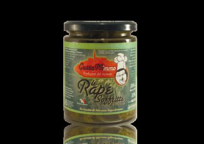 LE RAPE SOFFRITTE  Cime di rapa, olio evo, aglio, sale, prodotto locale  barattolo da 314 ml • €4,95