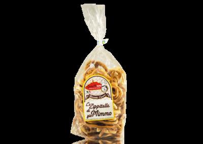 LE ZIPPITELLE DI ZIO MIMMO CON SEME DI FINOCCHIO  Taralli prodotto locale  confezione da 400 gr • €3,00