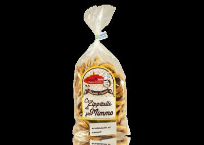 LE ZIPPITELLE DI ZIO MIMMO AI CEREALI  Taralli prodotto locale  confezione da 300 gr • €3,00