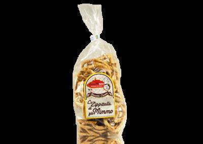 LE ZIPPITELLE DI ZIO MIMMO INTEGRALI  Taralli prodotto locale  confezione da 400 gr • €3,00