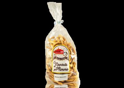 LE ZIPPITELLE DI ZIO MIMMO  Taralli prodotto locale  confezione da 400 gr • €3,00