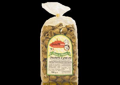 ORECCHIETTE DI GRANO ARSO  Pasta fresca secca prodotta a Matera  confezione da 1/2 Kg • €2,20