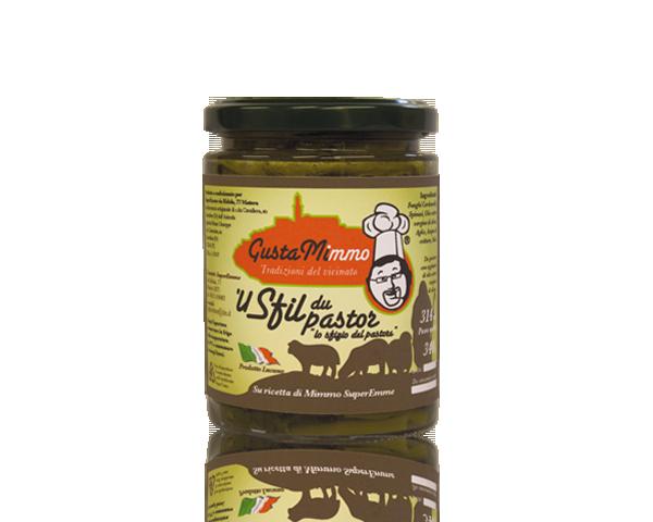 U SFIL DU PASTOR  Funghi cardoncelli, spinaci, olio evo, aglio, sale, prodotto locale  barattolo da 314 ml • €4,73
