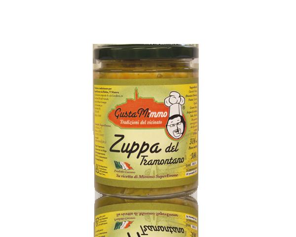 ZUPPA DEL TRAMONTANO  Cavolo verza, patate, carote, cipolle, grano duro, sale, salvia, prodotto locale  barattolo da 314 ml • €3,25